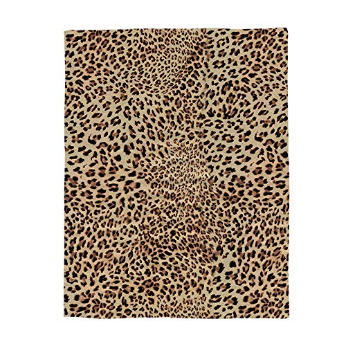 Anmevor Blanket Bed Blankets Lightweight Cozy Microfiber Couch Blankets Luxury Sofa Blanket for All Seasons, Leopard Print 60