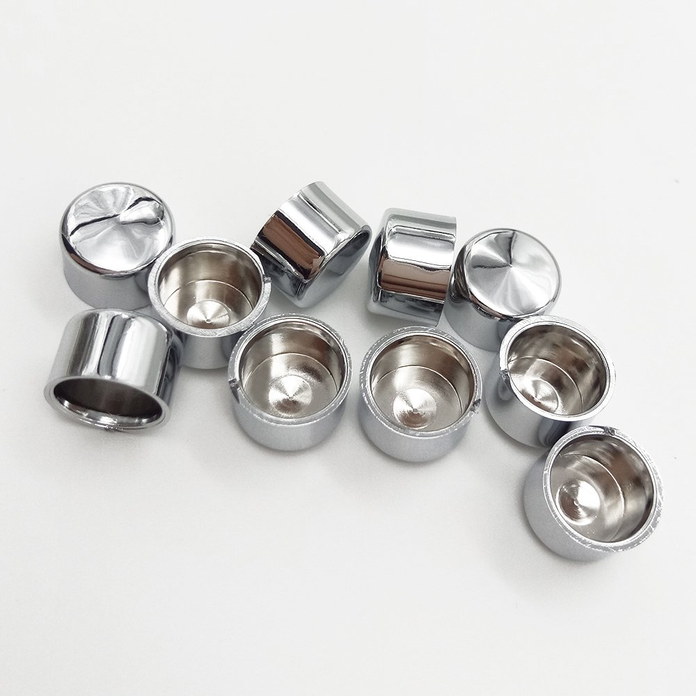 TJMOTO 8 Pcs Chrome Bolt Cap Cover Dress Kit Fit 07-15 Harley Softail /& Dyna Push Rod Tappet Block