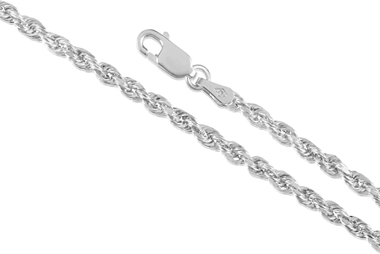 """24/"""" 14k Tri-Color Gold 1.50mm Diamond-Cut Rope Chain Necklace 7/"""""""