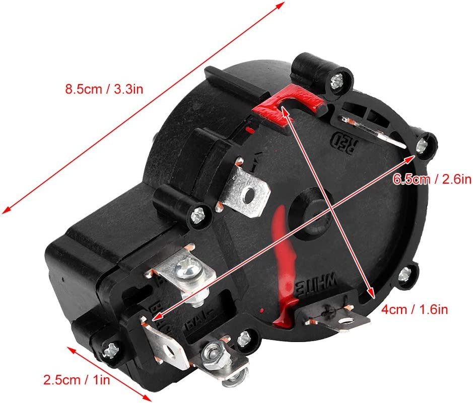 YOPOTIKA 12V Propeller Speed Controller Electric Propeller Motor Switch Plastic Speed Controller Outboard Accessory suitable for 68lb Outboard Black