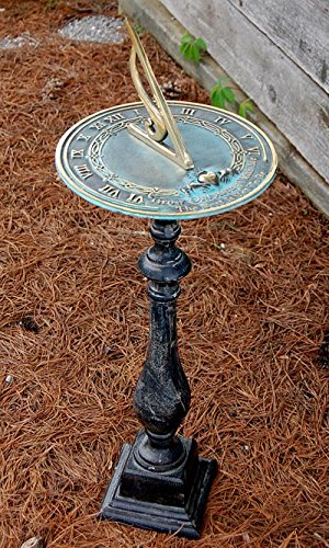 Rome Grow Old With Me Sundial and Spindle Pedestal by BestNest