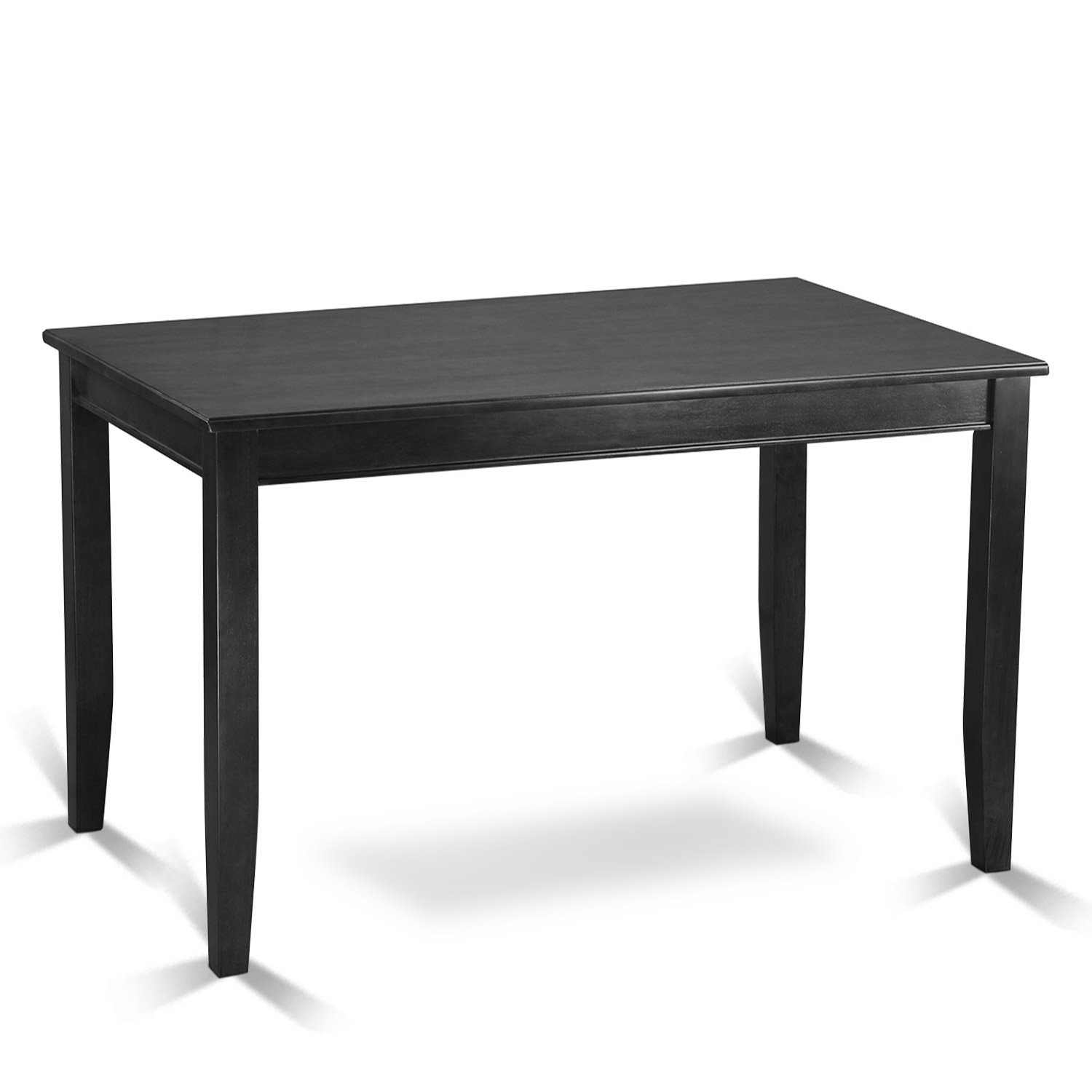 East West Furniture BUT-BLK-T Counter Height Rectangular Table, 30-Inch by 48-Inch, Black Finish