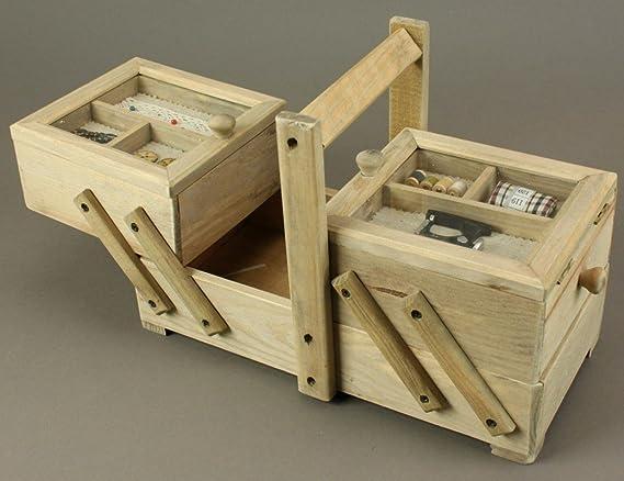 Costurero nähbox Schneider Caja costurero madera natural 3 ...