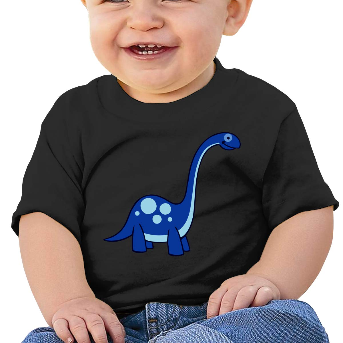 JVNSS Blue Dinosaur Baby T-Shirt Infant Boy Girl Cotton T Shirts Fashion Tee Shirts for 6M-2T Baby