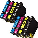 EpsonエプソンRDH互換インクカートリッジ RDH-4CL 増量版4色パック×2 8本セットRDH-BK-Lブラック RDH-C RDH-M RDH-Y ICチップ付 残量検知能付 対応プリンタ:PX-048A PX-049A (4色x2パック8個)