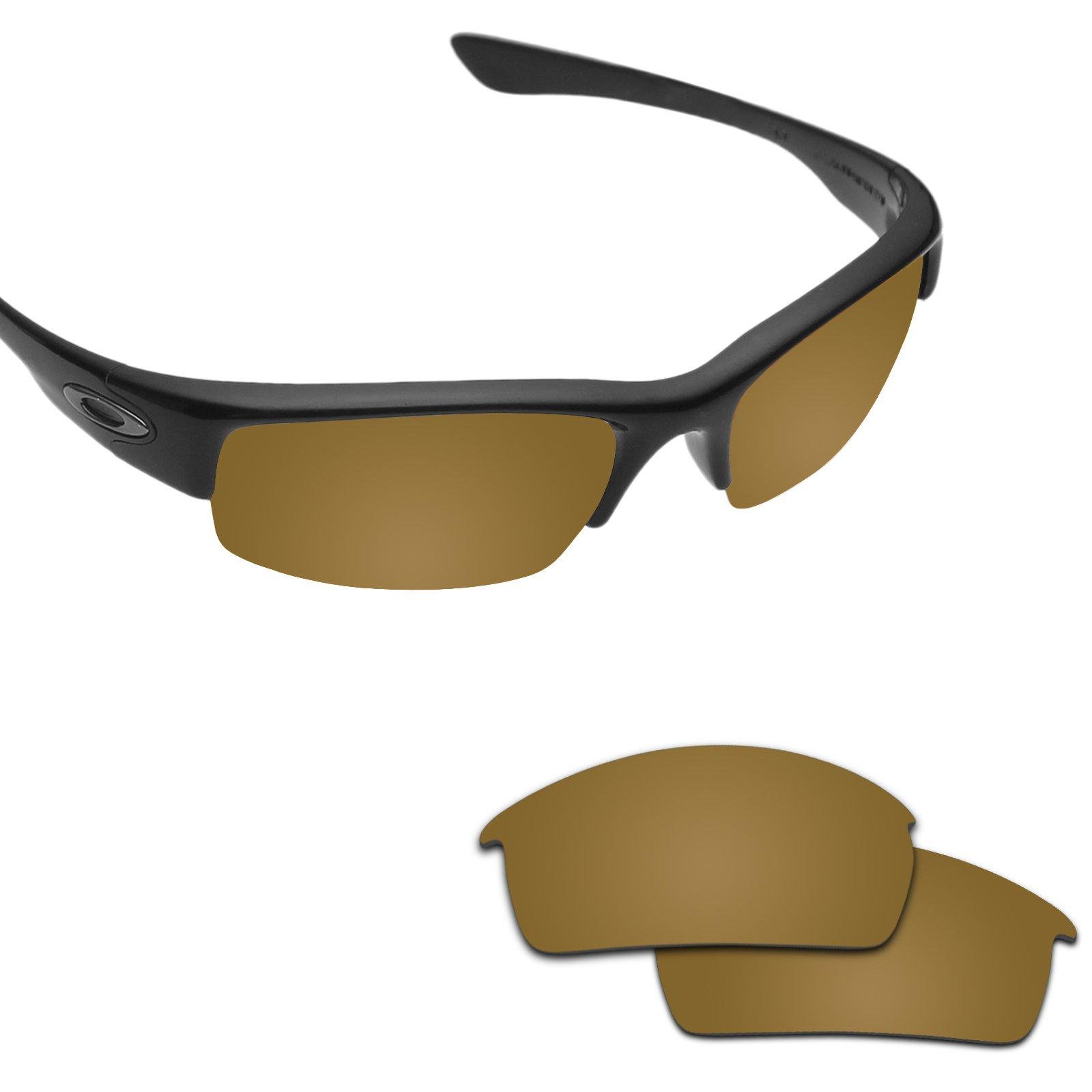 Fiskr Anti-saltwater Polarized Replacement Lenses for Oakley Bottlecap Sunglasses - Various Colors (Bronze Gold - Anti4s Mirror Polarized, 0)