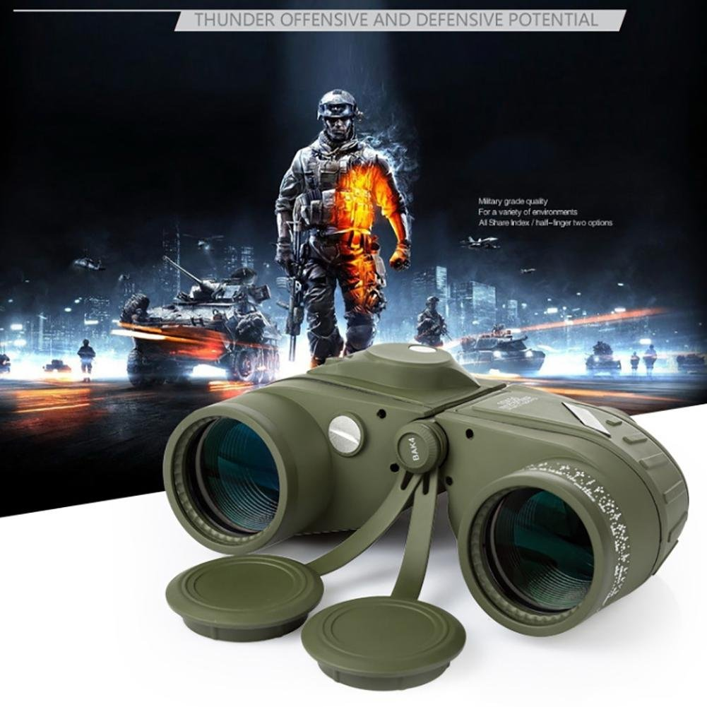 MIAO Outdoor Adult Military Standard High - Definition High Power 10x50 Micro - Light Night Vision Ranging Binoculars with Compass Coordinates by miaomiao (Image #2)