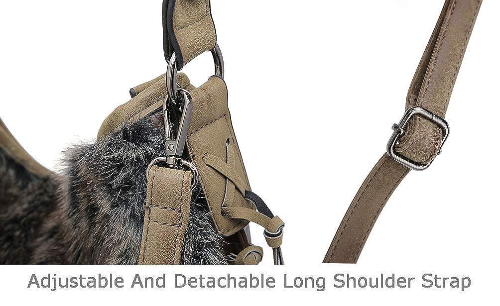 SHOMICO Hobo Bag for Women Boho Purses and Handbags Fringe Big