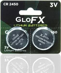 GloFX CR2450 3V Lithium Battery (2 Pack)