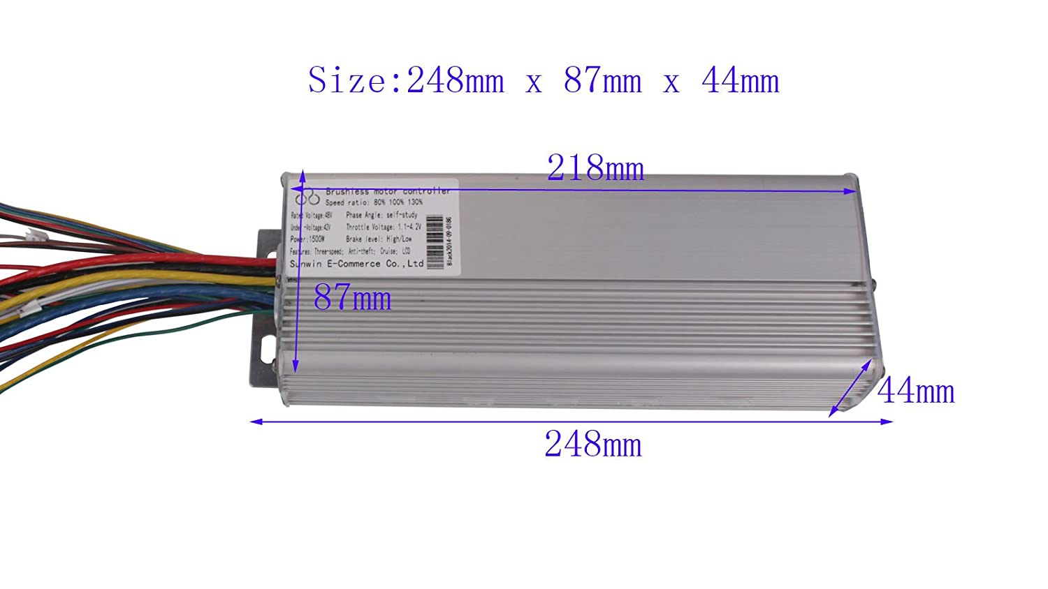 1500w 48v Electric Bicycle Brushless Motor Controller Bms Atv Wiring Diagram For E Bike Scooter Sports Outdoors