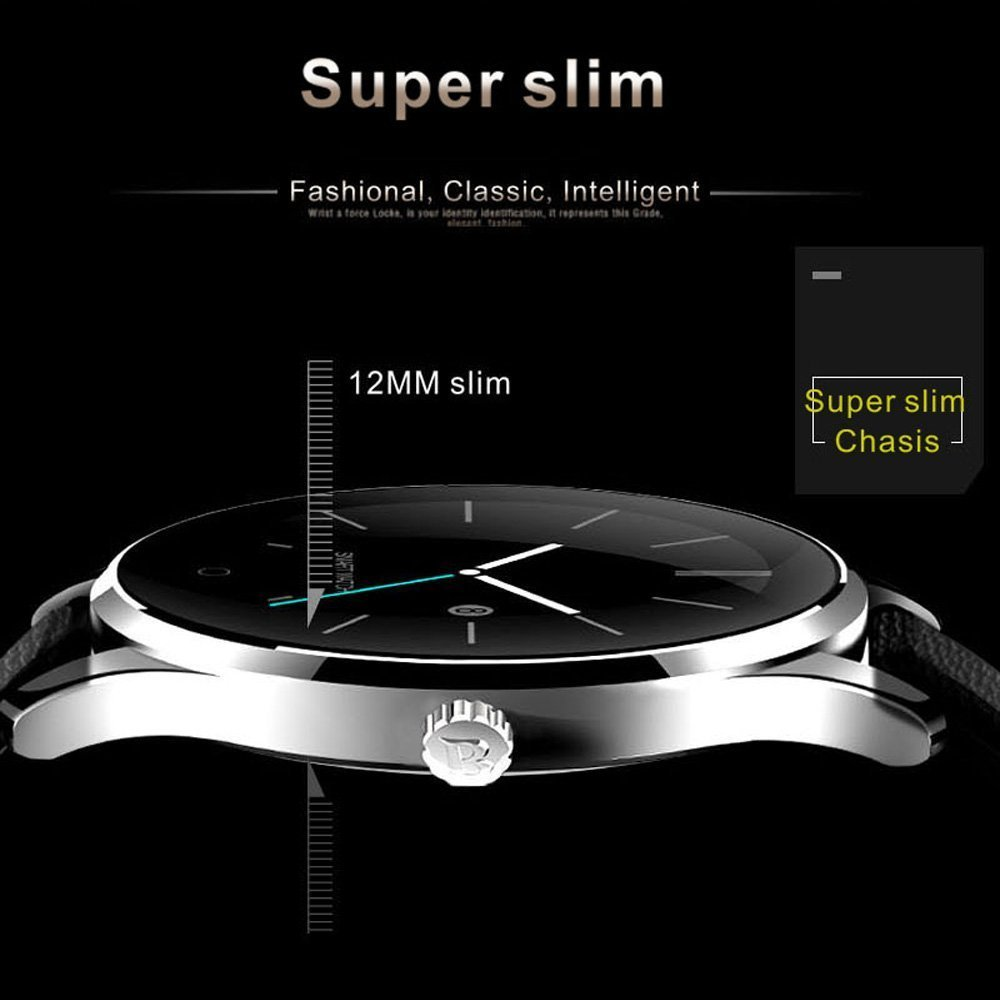witmood k88h redondo reloj inteligente Monitor de ritmo cardíaco reloj de pulsera con cámara remota reloj Bluetooth para Android y iOS Teléfono: Amazon.es: ...