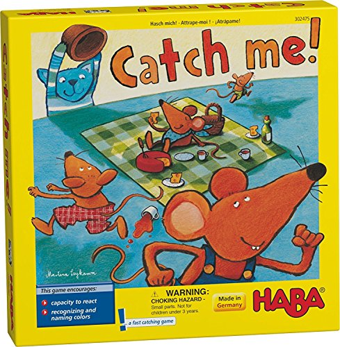 HABA Catch Me! - A Fast Catching Wooden Reaction Game for Ages 4 and Up (Made in Germany)