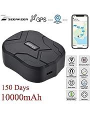 GPS Tracker,150 Giorni in Standby Impermeabile Anti-perso Localizzatore GPS con Geo-Fence Alarm Tracciatore di Posizione GPS per Auto/Veicoli/Camion/Moto/Nave/Flotta con App Gratuita Tracking 10000mAh