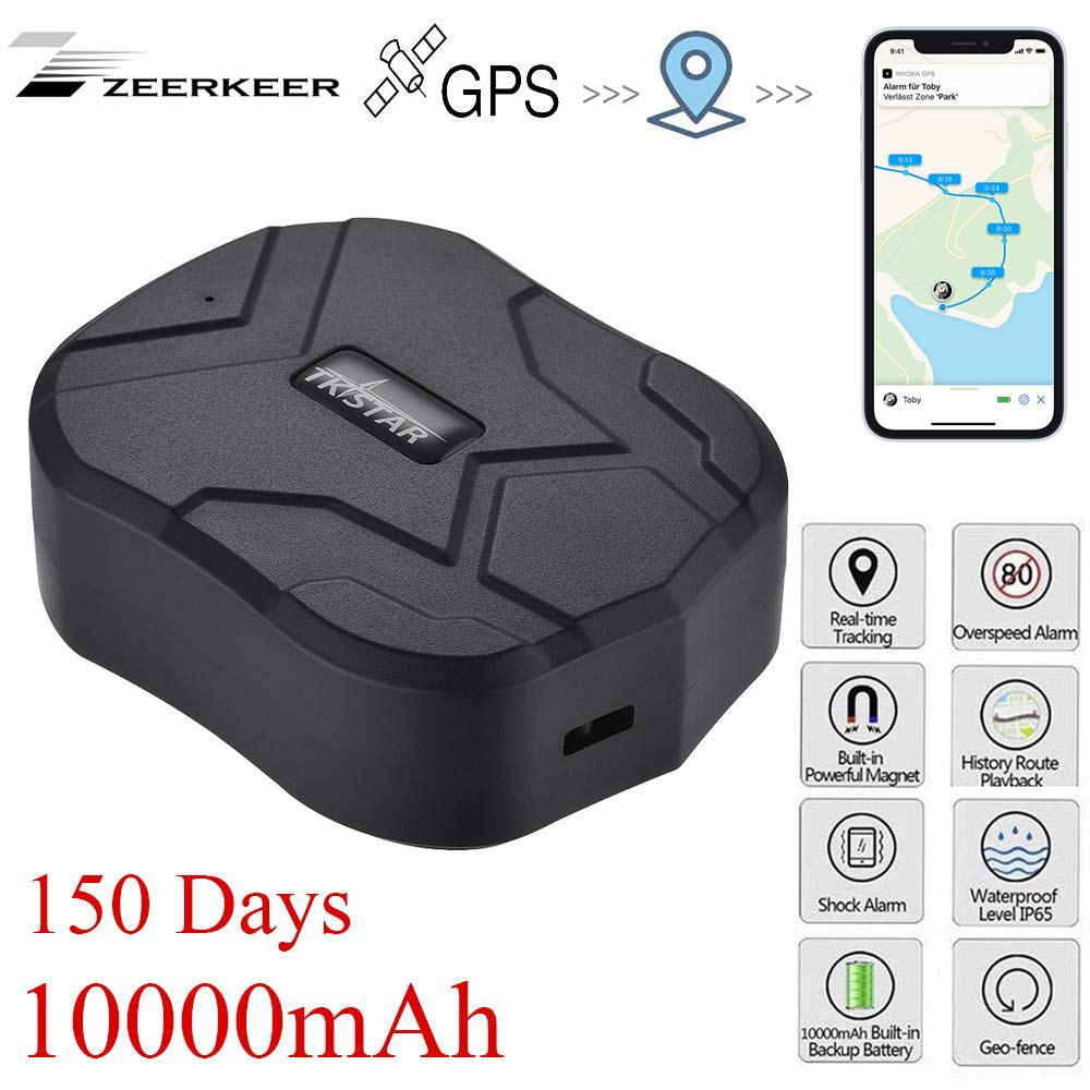 Zeerkeer GPS Tracker GPS/GSM Satélite Tracker Antirrobo en Tiempo Real Portátil para Coche Moto Vehículo,impermeable GPS Localizador,GPS de alarma de ...