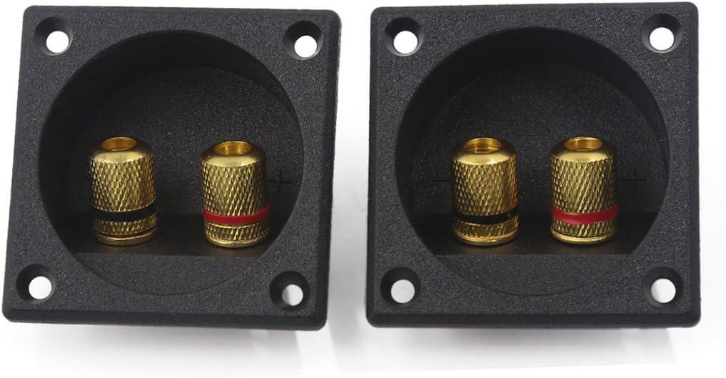sourcingmap/® 2St/ück Square Audio Lautsprecher Feder Binding Post Dual Terminal Steckverbinder de
