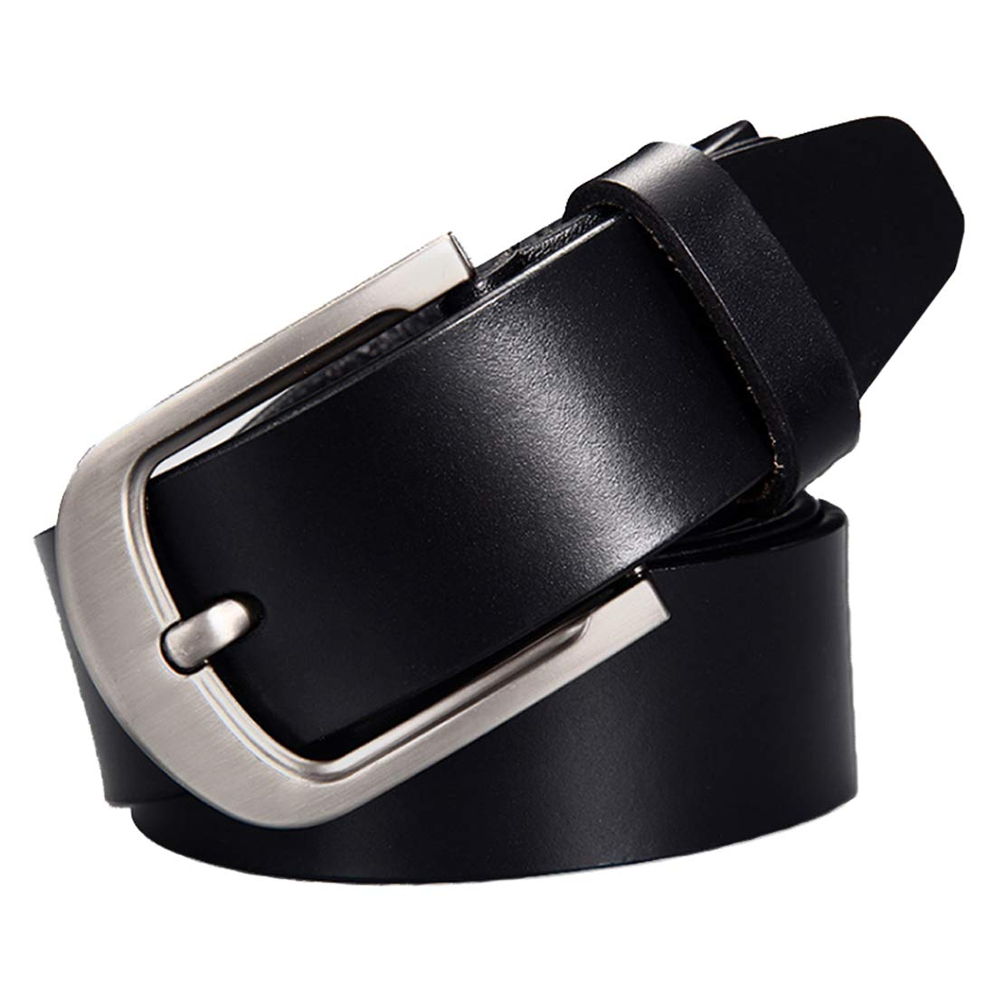 Inlefen Mens leather belt waist beltadjustable anti-slip business belt