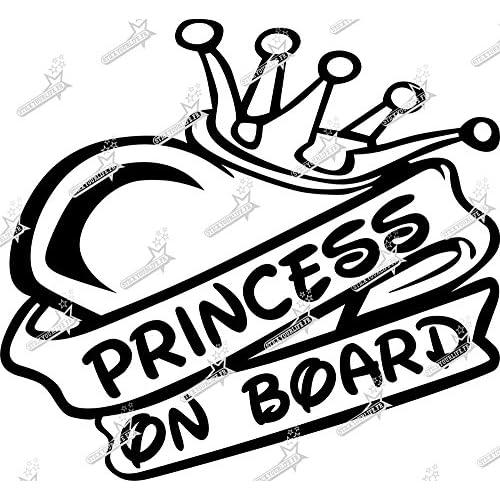 Princess On Board Bébé Enfant fenêtre pare-chocs Voiture Signe Fenêtre Autocollant