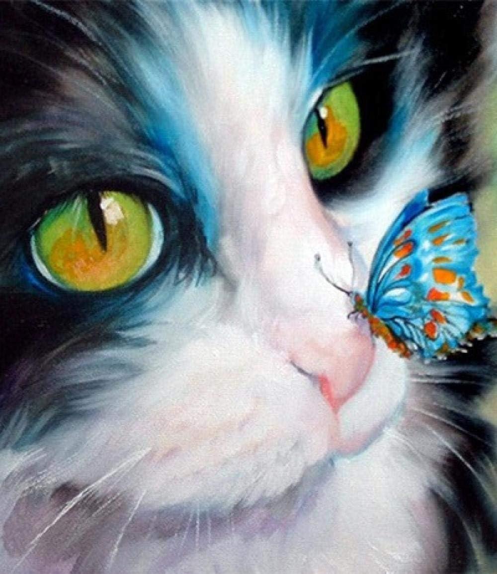 prbll Pintura Digital DIY, Pintura acrílica PBN, Gato Lindo ...