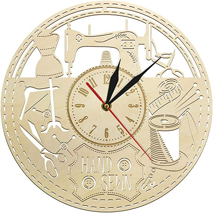 xuyuandass Relojes De Pared,Reloj De Pared Máquina De Coser ...