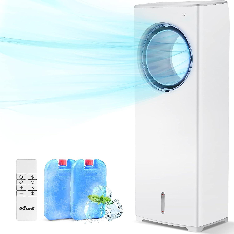 Best Smart Air Cooler: BREEZEWELL 3 Wind Speeds Unique Design Evaporative Air Cooler.