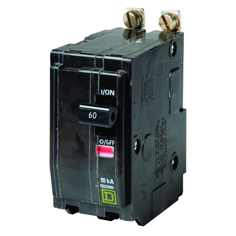 Square D by Schneider Electric QOB260CP QO 60 Amp Two-Pole Bolt-On Circuit Breaker,