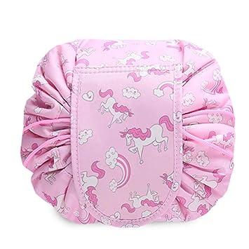 ... Hermoso impresión cosmético del Organizador del Bolso de Viaje portátil Cable de Gran Capacidad para Las niñas, Neceser (Rosa): Amazon.es: Equipaje