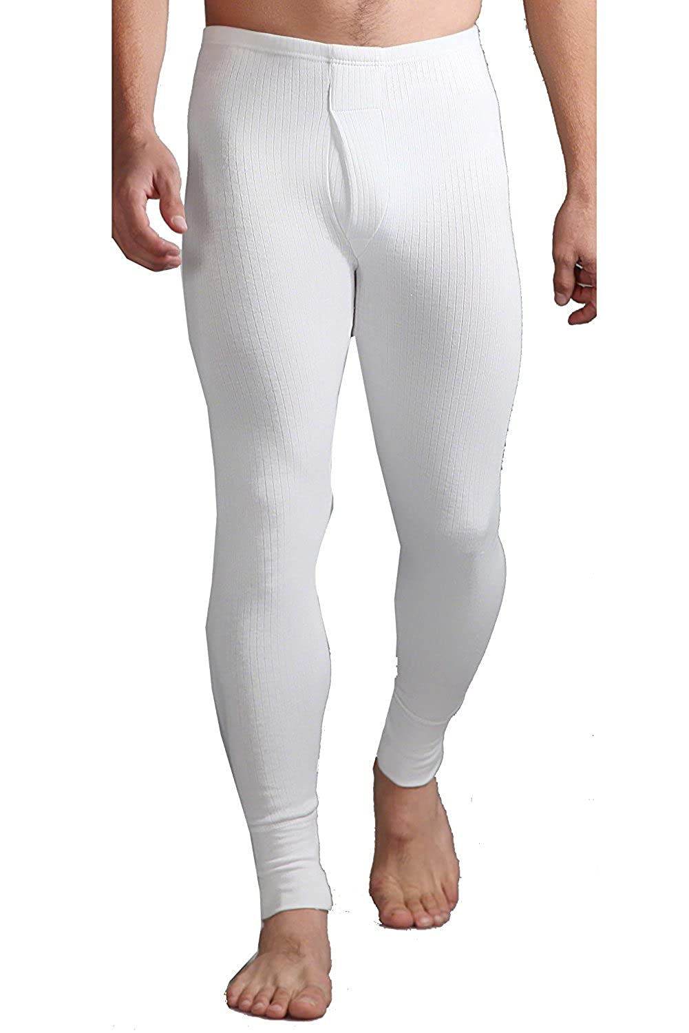 CL Mens New Cotton Winter Wear Thermal Long Johns Bottoms Pants Underwear Base Layer WHITE BLUE GREY S-2XL