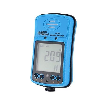 Inteligente Senor AS8901 Medidor de oxígeno automotriz de mano O2 Probador de gas Monitor Detector Pantalla