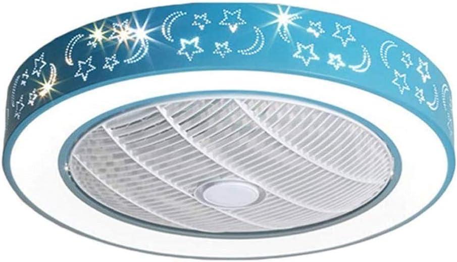 UNU_YAN Ventilador de Techo Lámpara for niños Dormitorio Ventilador de Techo lámpara Boy Muchacha de la Historieta Creativa del Ventilador eléctrico con Ventilador Llevado de la lámpara