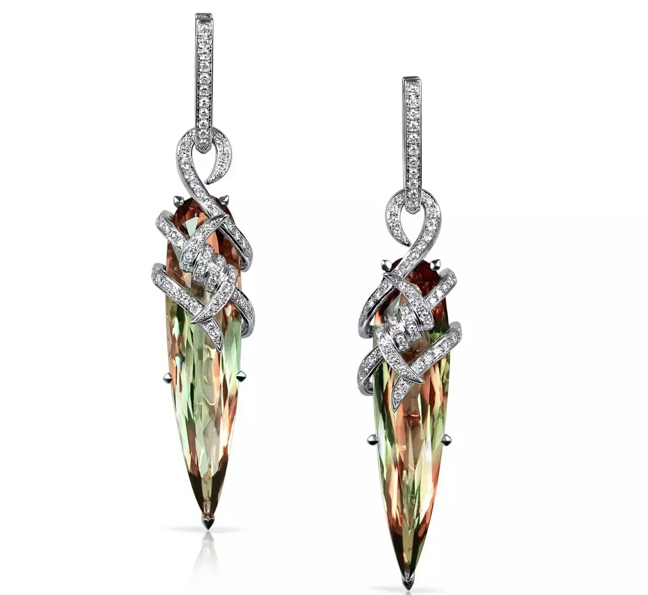 silver earrings zultanite alexandrite changing colors gem fine jewelry 925 sterling silver jewelry micro paved rock style earrings (Rhodium)