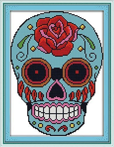 (Good Value Cross Stitch Kits Beginners Kids Advanced -Skull 11 CT 11