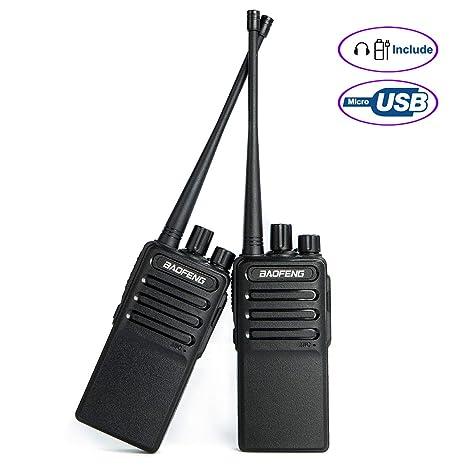 Walkie Talkies Voice Scrambler Rechargable Radio (Micro USB