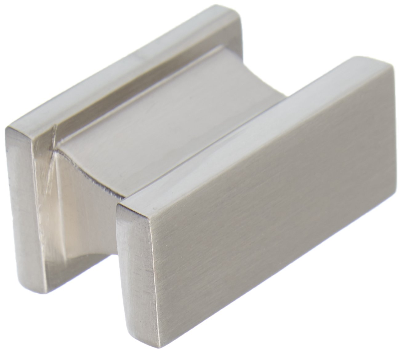 Southern Hills Brushed Nickel Cabinet Knob - Rectangle -Satin Nickel - Pack of 5 - Kitchen Cabinet Knobs - Drawer Pulls Hardware - SHKM001-SN-5
