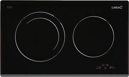 Opinión sobre Cata IB 2 Plus BK-Placa (Integrado, Inducción, Negro, Sensor, Parte Superior Delantera, 59 cm), 2300 W, Vidrio, Acero Inoxidable