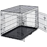 Best Choice Products Pet Supplies 42″ Dog Cage Crate With Double Doors, Removable Tray- Black