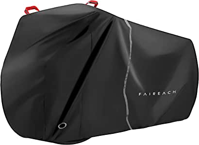 Faireach Bike Cover Waterproof Outdoor, Bicycle Cover with 210D Premium Fabric, Anti Dust Rain Snow UV, Bike Rain Cover for Mountain, Road & Heavy Duty Bikes with Lock Holes& Storage Bag