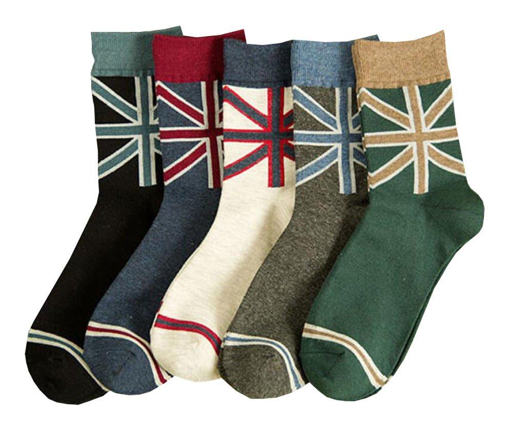 England-Art-Männer beiläufige Socken-Satz von 5 Paaren Black Temptation