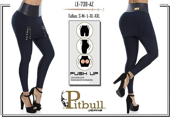 Amazon Com Jeans Pitbull Mallas Colombianas Para Levantamiento De Botas Con Falda 738 M Clothing