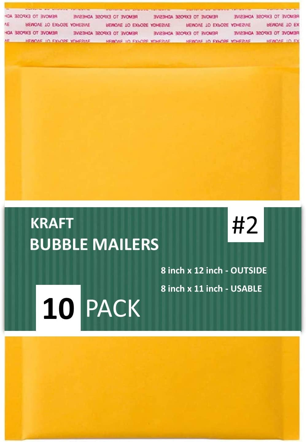 Secure Seal #000 4x8 Kraft Bubble Mailers Padded Shipping Envelopes Pack of 100