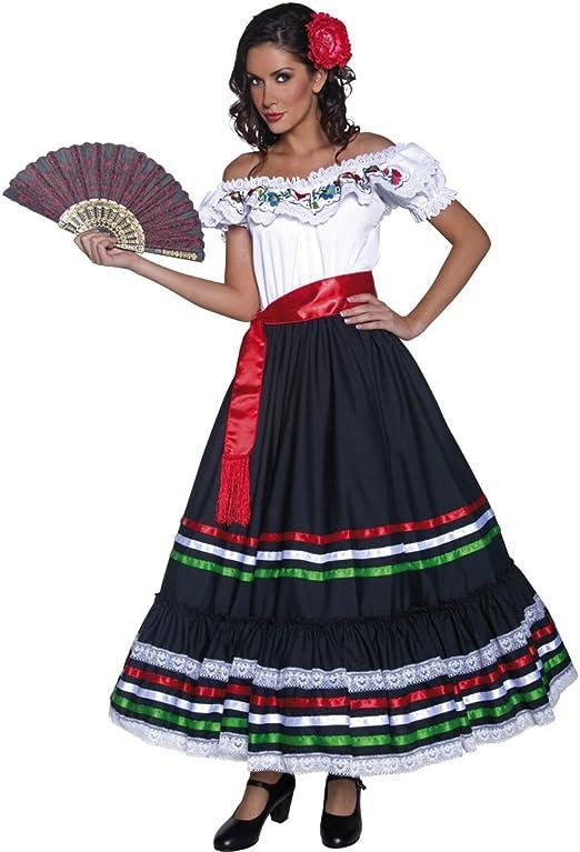 NET TOYS Disfraz Flamenca Ropa señorita M 40/42 Vestido bailaora ...