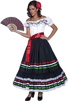 NET TOYS Disfraz Flamenca Ropa señorita S 36/38 Vestido bailaora ...