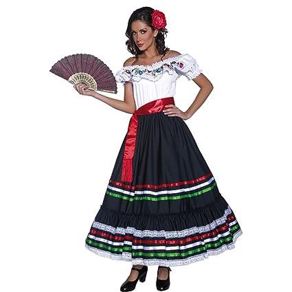 Amakando Ropa señorita Disfraz Flamenca L 44/46 Ropa ...