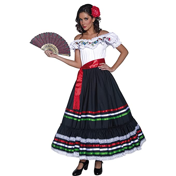 Amakando Ropa señorita Disfraz Flamenca M 40/42 Ropa andaluza ...