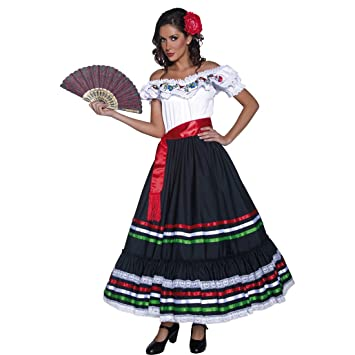 Disfraz flamenca Ropa señorita M 40/42 Vestido bailaora Carmen Ropa andaluza Atuendo gitana carnaval