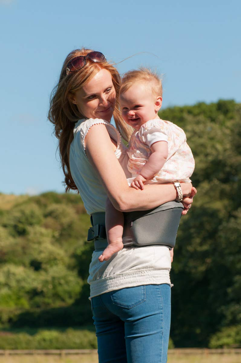 Teal The Easy Hippychick Hipseat Baby Carrier No-Fuss Baby Carrier That Takes Care of Your Back