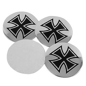 Emblema adhesivo de aluminio para rueda de coche, 56,5 mm, para Renault