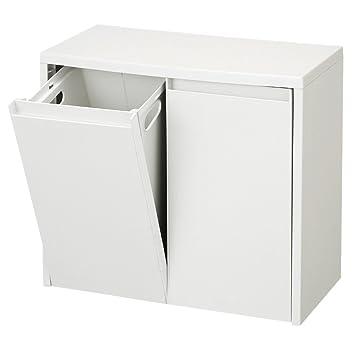 薄型のダストボックスを探しており、無印良品のダストボックスは薄さなんと21cmなんです!レジ袋をそのまま2袋かけられ、2分別できるんです!