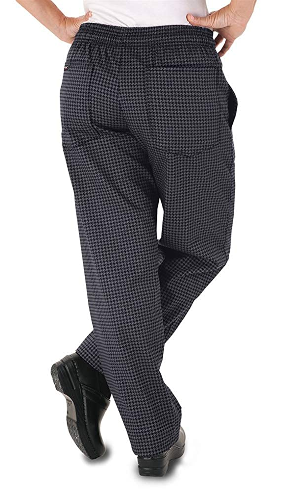 XS-3X, 2 Colors Women/'s Houndstooth Chef Pant