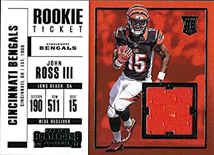 57a602d7 Amazon.com: 2017 Panini Contenders Rookie Ticket Swatches #26 John ...
