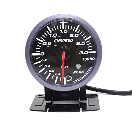 Amazon.com: CNSPEED 60MM Black Face Car Turbo Boost Gauge 3 BAR with White &Amber Lighting Turbo Boost Meter Auto Gauge/Car Meter: Automotive